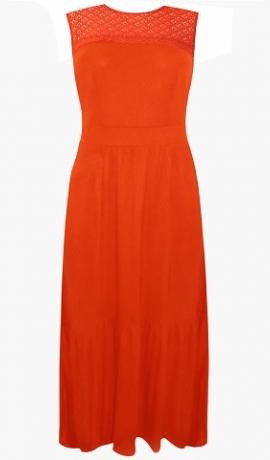 3-0659 Oranža maxi kleita.