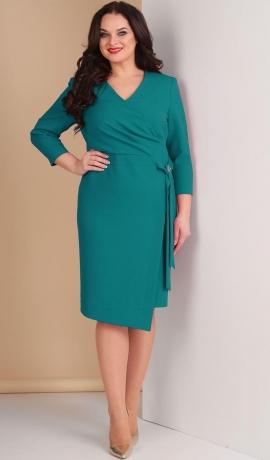 LA2557 Tirkīzkrāsas kleita