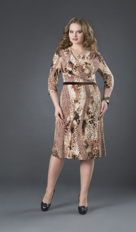 3-0978 Leopardraksta kleita