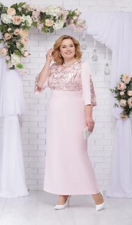 LIA3683 Pūderkrāsas garā kleita