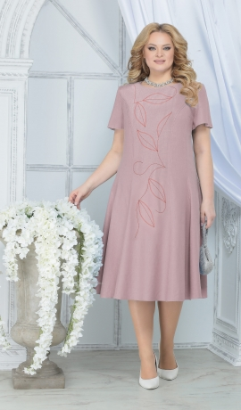 3-1636 Tumši rozā lina kleita