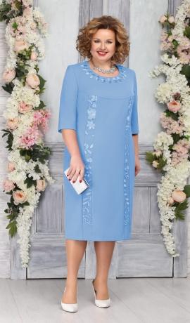 LIA5382 Gaiši zila kleita