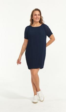 3-1699 Tumši zila flisēta kleita