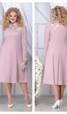 LIA7134 Gaišas krāsas kleita