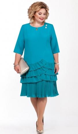 LIA6260 Tirkīzzaļa kleita