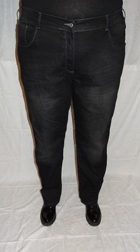 5-0397 Melni džinsi ar balinājuma efektu.
