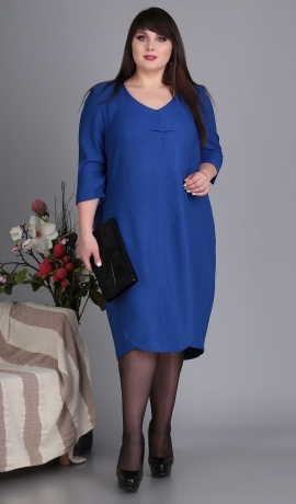 LIA5095 Zila kleita ar spīdumu