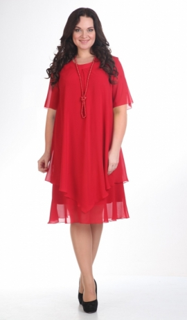LIA07985 Sarkana šifona kleita