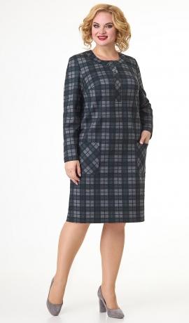 LIA7593 Rūtiņu raksta kleita