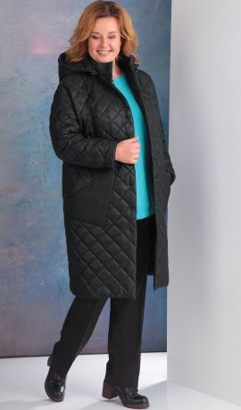 LIA4498 Melna virsjaka ar kapuci