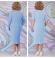 LIA6118 Gaiši zila kleita ar žaketi