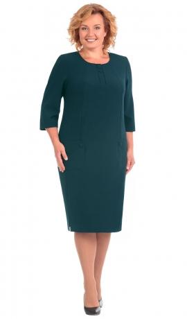 LIA3137 Tumši zaļa kleita