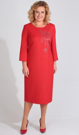LIA3803 Sarkana eleganta kleita