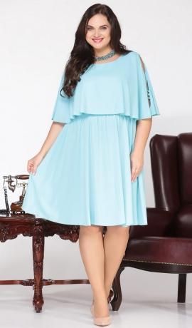 3-1357 Piparmētru krāsas kleita