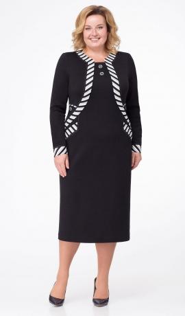 LIA1778 Melna trikotāžas kleita