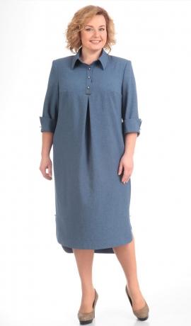 LIA5480 Zila ikdienas kleita