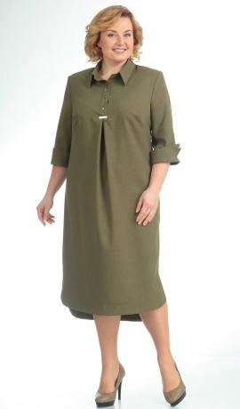 LIA5481 Haki ikdienas kleita
