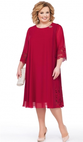 LIA2824 Sarkana šifona kleita