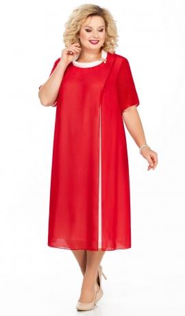 LIA3266 Sarkana šifona kleita