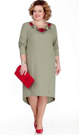 LIA5483 Haki kleita ar pagarinātu muguras daļu