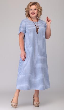 LIA6005 Svītru raksta lina kleita