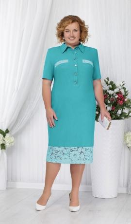 3-0834 Gaiši zaļa kleita