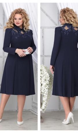 LIA7132 Tumši zila kleita