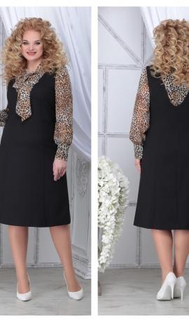 LIA7143 Kleita ar leopardraksta piedurknēm