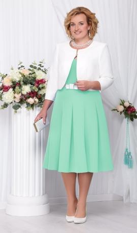 LIA1975 Zaļa midi kleita ar žaketi