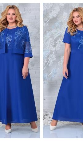 LIA7397 Šifona kleita ar mežģīņu jaciņu