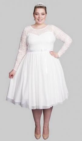 3-0632 Midi kāzu kleita