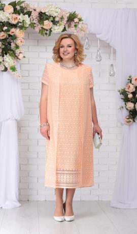 LIA2968 Persiku krāsas kleita