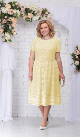 LIA2967 Dzeltena kleita