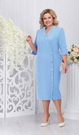 LIA3290 Gaiši zila eleganta kleita