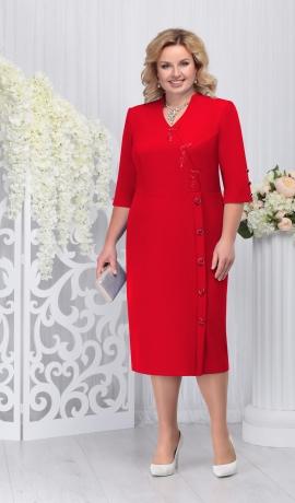 LIA3291 Sarkana eleganta kleita