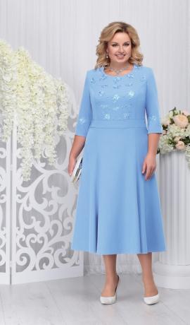 LIA3301 Gaiši zila kleita