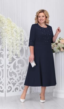 LIA3303 Tumši zila kleita
