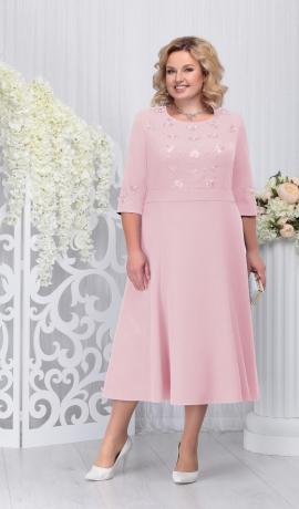LIA3304 Pūderkrāsas kleita