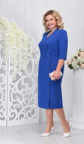 LIA3293 Zila eleganta kleita