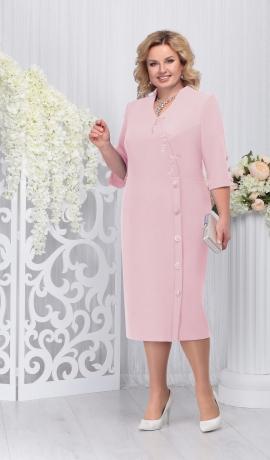 LIA3292 Pūderkrāsas eleganta kleita