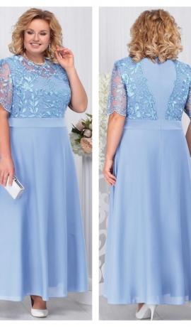 3-1808 Gaiši zila maxi svētku kleita