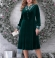 3-1807 Smaragdzaļa samta kleita
