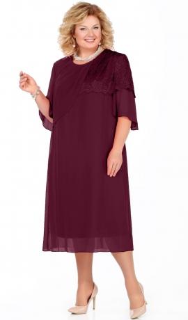 LIA4183 Bordo šifona kleita