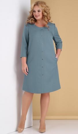 LIA7905 Gaiši zila kleita