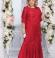 LIA4465 Sarkana garā kleita