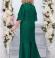 LIA4468 Smaragdzaļa garā kleita