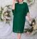LIA5946 Smaragdzaļa kleita ar mežģīni