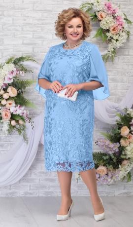 LIA5944 Zila kleita ar mežģīni