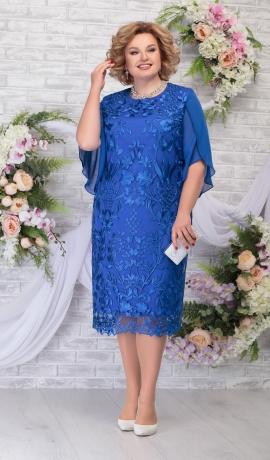 LIA5947 Zila kleita ar mežģīni