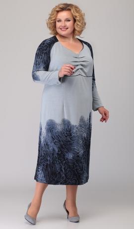 LIA6315 Trikotāžas kleita ar printu